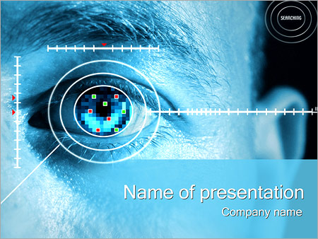 Eye scan powerpoint template backgrounds google slides id eye scan powerpoint template toneelgroepblik Gallery