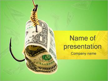 Money on Hook PowerPoint Template
