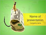 Money on Hook PowerPoint Templates