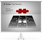 3D-Puzzles PPT Diagrams & Chart