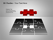 3D-Puzzles PPT Diagrams & Charts