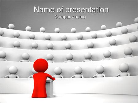 Speaker and Audience PowerPoint Template