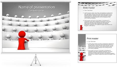 Palestrante e Audiência Modelos de apresentações PowerPoint