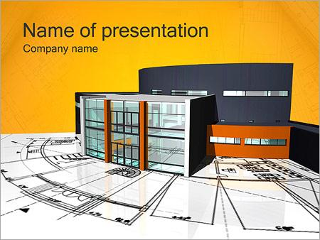 Plano de casa moderna Modelos de apresentações PowerPoint