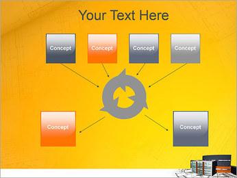 Plano de casa moderna Modelos de apresentações PowerPoint - Slide 10
