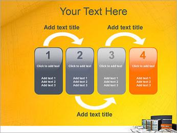 Plano de casa moderna Modelos de apresentações PowerPoint - Slide 11