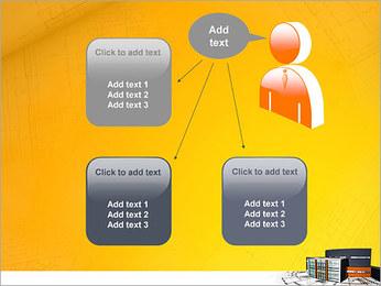 Plano de casa moderna Modelos de apresentações PowerPoint - Slide 12