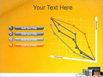 Plano de casa moderna Modelos de apresentações PowerPoint - Slide 13