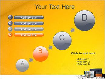 Plano de casa moderna Modelos de apresentações PowerPoint - Slide 15