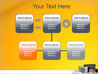 Plano de casa moderna Modelos de apresentações PowerPoint - Slide 23