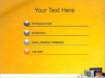Plano de casa moderna Modelos de apresentações PowerPoint - Slide 3