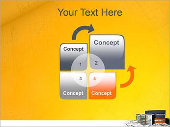 Plano de casa moderna Modelos de apresentações PowerPoint - Slide 5