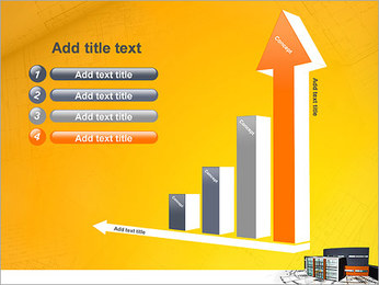 Plano de casa moderna Modelos de apresentações PowerPoint - Slide 6