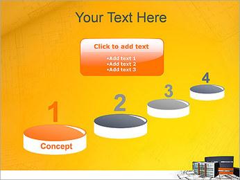 Plano de casa moderna Modelos de apresentações PowerPoint - Slide 7