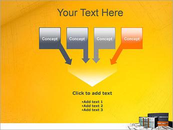 Plano de casa moderna Modelos de apresentações PowerPoint - Slide 8