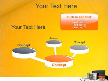 Plano de casa moderna Modelos de apresentações PowerPoint - Slide 9