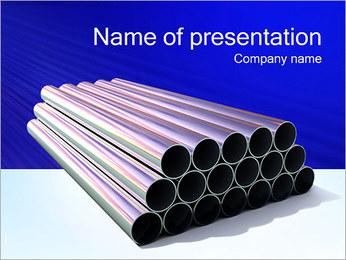 金属チューブ PowerPointプレゼンテーションのテンプレート