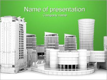 Město domy PowerPoint šablony