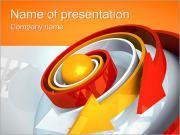 Flechas espirales Plantillas de Presentaciones PowerPoint