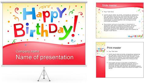 Фоны для презентаций powerpoint с днем рождения