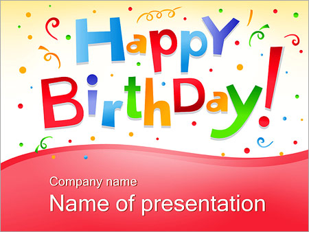 birthday - powerpoint template - smiletemplates, Powerpoint templates