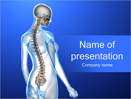 Spinal powerpoint template smiletemplates woman spine powerpoint template toneelgroepblik Gallery