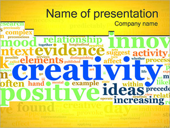 Creativity Tagcloud PowerPoint Template