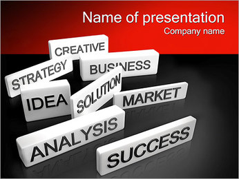 Innovation Words PowerPoint Template