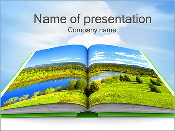 Nature Book PowerPoint Template