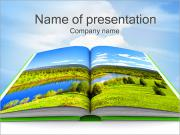 Nature Bok PowerPoint presentationsmallar