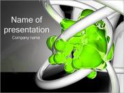 Abstract Green Shapes PowerPoint Templates
