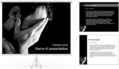 Depression PowerPoint Template & Backgrounds ID 0000002179 ...