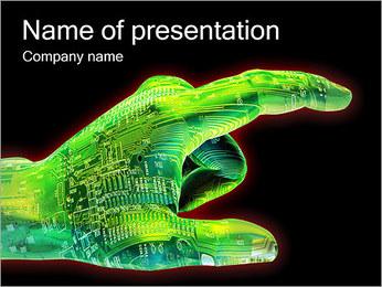 Cyber main Modèles des présentations  PowerPoint