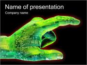 Cyber Hand PowerPoint Templates