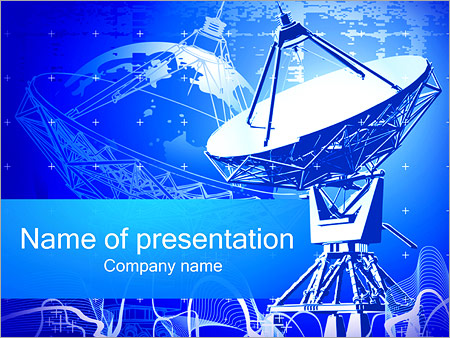 Dish antenna powerpoint template backgrounds id 0000002182 dish antenna powerpoint template toneelgroepblik Images