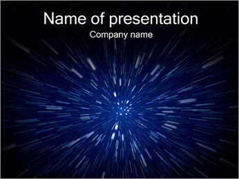 Space Zoomning PowerPoint presentationsmallar