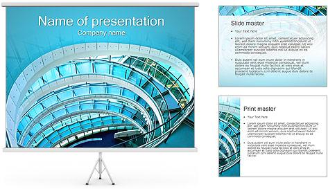Spiral Staircase Modelos de apresentações PowerPoint