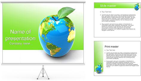 Vert Concept Terre Modèles des présentations  PowerPoint