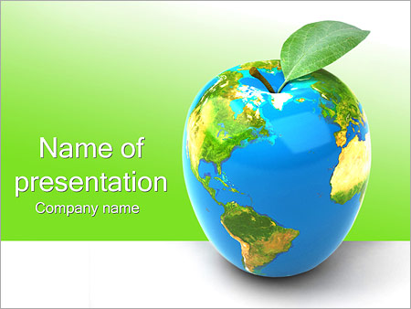 green earth concept powerpoint template & backgrounds id, Modern powerpoint
