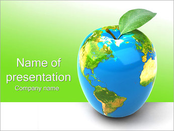 Green Earth Concept PowerPoint presentationsmallar