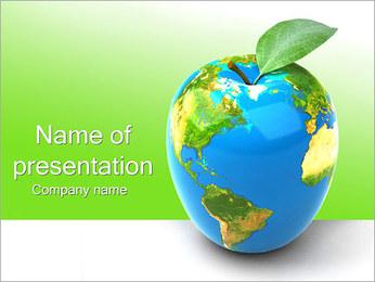 Vert Concept Terre Modèles des présentations  PowerPoint - Diapositives 1