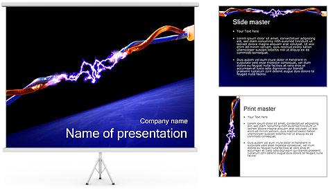 Décharge électrique Modèles des présentations  PowerPoint