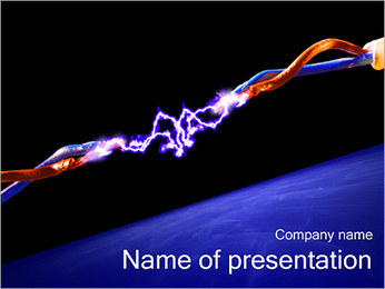 Electric Discharge PowerPoint Template