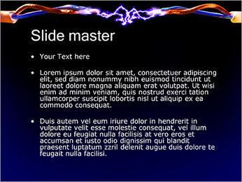 Décharge électrique Modèles des présentations  PowerPoint - Diapositives 2