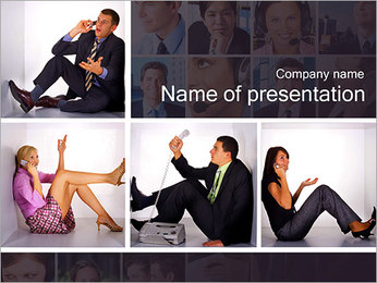 Calling People PowerPoint Template