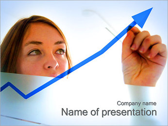 Chart and Woman PowerPoint Template