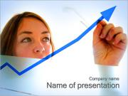 Chart and Woman PowerPoint Templates