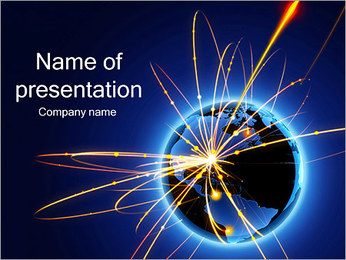 Earth Explosion PowerPoint Template