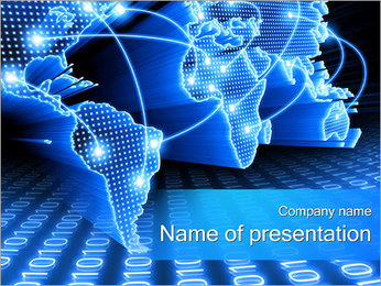 Communication World Map PowerPoint Template