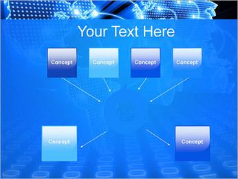 Mapa del Mundo Comunicación Plantillas de Presentaciones PowerPoint - Diapositiva 10
